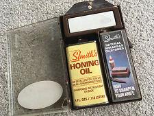 Smiths Sharpening Kit SK-1 Arkansas Stone Vintage Hone Knife Whetstone Oil Case