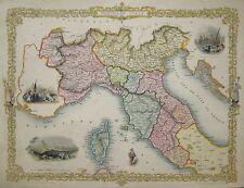 Italien - Norditalien - Northern Italy -  Tallis / Rapkin - Original von 1851