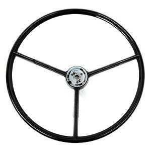 61-70 Ford Truck / 60-63 Falcon / 61-63 Comet Steering Wheel 3 Spoke, Black