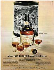 PUBLICITE ADVERTISING 105  1967  COURVOISIER  cognac en coffret-corbeille cadeau