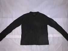 632c6f78 Mens Abercrombie & Fitch V Neck Lambs Wool Sweater Gray Size Large