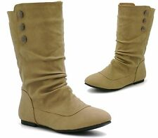 Flat (less than 0.5') Unbranded Women's Slouch Boots