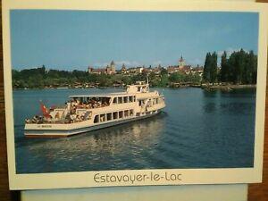 POST CARD SHIP ESTAVAYER - LE - LAC SUNRISE SCHWEIZ-SWITZERLAND