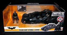 BATMAN The DARK KNIGHT BATMOBILE w Action Figure DC Comics Die Cast Metal Car