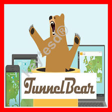 TunnelBear VPN | LifeTime 6.5 GB per Month | 5 Devices | INSTANT DELIVERY 5 min