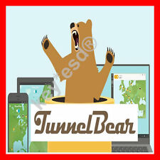 TunnelBear VPN || LifeTime || 6,5 GB per Month || 5 Devices || FAST DELIVERY