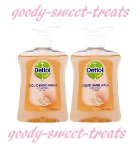 2 x 250ml Dettol Moisture Grapefruit Hand Wash !NEW!