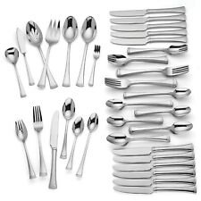 Lenox Brookfield 82 Piece Flatware Set Service For 12 Stainless 18/10 NEW