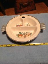 Vintage Baby Childs Divided Child Dish South West Theme Nice Collectible Decor