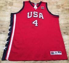 Usa Olympic Basketball Jersey Vtg 2004 Allen Iverson 3Xl 56 Stitched Red Reebok