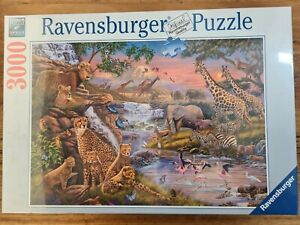 Animal Jigsaw Puzzle 3000pc ravensburger Extra Large Pces Giraffe Elephant Lion