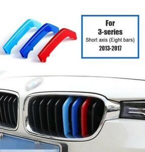 BMW F30 Grill Trim 3 Series M Sport Tech 3 Color Stripes for 8 Bars 2013-2017 UK