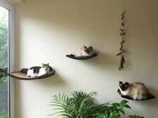 Cat Wall Perch/Shelf Curved Two Covers High Quality Easy Install Holds Large Cat