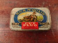 Collectable c1950's Vintage Tobacco Tin - PJ Carroll Mick McQuaid Cut Plug 2oz