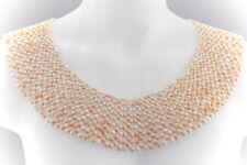 Schmuck Riesiges Luxus Collier Koralle Kugel für Kugel aufwändig aufgezogen Gold