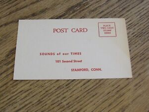 Sounds of our Times Stamford, CT, Cook Laboratories Postcard (HWBS)