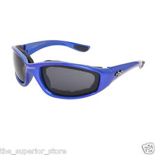 Xsportz Foam Padded Interior Frames XS48 Blue Biker Motorcycle Sunglasses