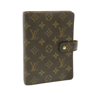 LOUIS VUITTON Monogram Agenda MM Day Planner Cover R20105 LV Auth yk668