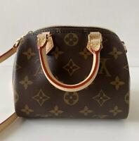 BRAND NEW Authentic Louis Vuitton Nano Speedy Mini Bag Crossbody M61252