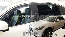 INFINITI QX70 FX II 5-portes 2008-présent Deflecteurs de vent 4-pcs HEKO Bulles