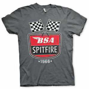 Officially Licensed B.S.A. Motorcycles Spitfire 1966 Men's T-Shirt S-XXL Sizes