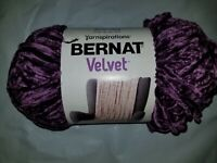 Yarnspirations Bernat Blanket Velvet Yarn Magestic Purple