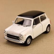 1990 Mini Cooper 1300 Die-Cast Model Car 10.5cm Detail Interior Pull-Back White