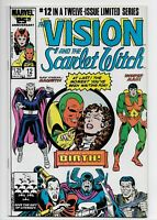 Vision and the Scarlet Witch #12 (1986 Marvel) 1st App Speed & Wiccan VF/NM!