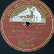 78rpm EDDIE FISHER heaven was never like this / i need you now