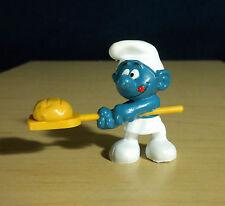 Smurfs Bread Baker Smurf Chef Greedy Vintage 1979 Toy Figure PVC Figurine 20113