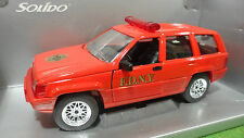 JEEP GRAND CHEROKEE POMPIER F.D.N.Y Rouge au 1/18 SOLIDO 9006 voiture miniature