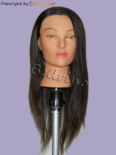"*USA SELLER* 24"" Cosmetology 100% Mannequin Head HUMAN Hair @@ Dark Brown # 2"