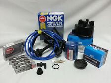 Cap-Rotor-NGK Wires-Spark Plug PCV Kit 92-93 Honda Accord W/Tec Distributor