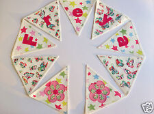 Girls Personalised Bunting CATH KIDSTON Butterfly Shooting Star £2.50/lettered f