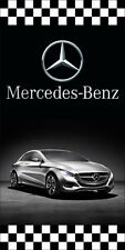 MERCEDES BENZ AUTO DEALER VERTICAL AVENUE POLE BANNER SIGNS