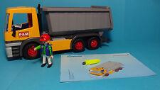 Playmobil Construction/Baustelle~Großer Muldenkipper/Dump Truck(3265)& Anleitung