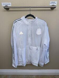 "Adidas 2021 Men's Mexico FT8239 White Football Soccer Jacket ""El Tri"" NWT SZ 3XL"