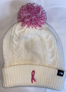 NWT North Face Women's Breast Cancer  Pink Ribbon Cable Minna Beanie ONE SIZE