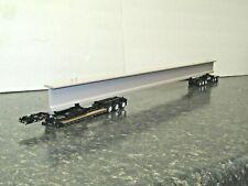 "dcp black lowboy beam hauler w/30""beam trailer chrome wheels 1/64 new no box"