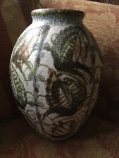 Denby Glyn Colledge Vase - 12 Inch High, Hand Painted, 1960s