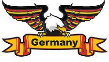 8x14,5cm PREMIUM Aufkleber Deutschland Adler Landesfarben Auto Motorrad Sticker