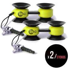 Sticko multi-purpose tiny ventouse mount holder jaune pack de 2
