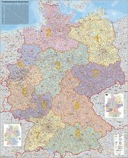 Postal Code Map Germany 38 3/16x53 7/8in 010110