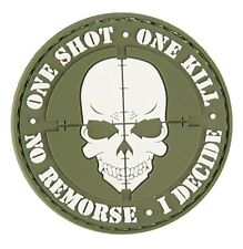 "AC-130E: Lancer Tactical ""ONE SHOT, ONE KILL"" PVC PATCH (OD)"