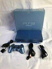 Sony PS2 Aqua Blue Limited Edition Game Console W/ Box Playstation 2 USED FedEx