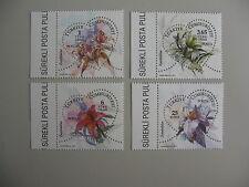 TURKIJE, serie thema bloemen, 2011, postfris/MNH