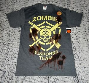 Halloween Glow in the Dark Grey T Shirt - Zombie Response Team (Size S-L)
