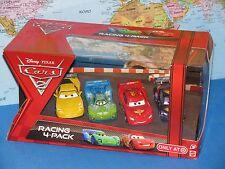DISNEY PIXAR CARS 2 RACING 4 PACK CARLA VELOSO McQUEEN JEEF GORVETTE SCHNELL NEW