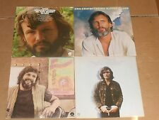 KRIS KRISTOFFERSON lot 4x LP easter island ME AND BOBBY McGEE silver tongued
