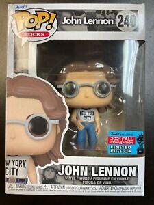 Funko Pop John Lennon NYCC 240 Rocks Fall Exclusive
